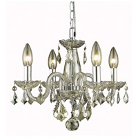 Elegant Lighting Rococo 4 Light Pendant in Golden Shadow with Royal Cut Golden Shadow Crystal 7804D15GS-GS/RC