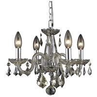 Elegant Lighting V7804D15GT-GT/RC Rococo 4 Light 15 inch Golden Teak Dining Chandelier Ceiling Light