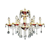 Elegant Lighting 7810D24G/RC Alexandria 6 Light 24 inch Gold Dining Chandelier Ceiling Light in Royal Cut alternative photo thumbnail