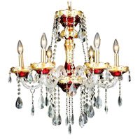 Elegant Lighting Alexandria 6 Light Dining Chandelier in Gold with Swarovski Strass Clear Crystal 7810D24G/SS