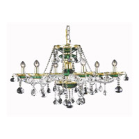 Elegant Lighting Alexandria 6 Light Dining Chandelier in Green with Royal Cut Clear Crystal 7810D24GN/RC alternative photo thumbnail