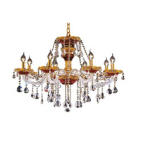 Elegant Lighting 7810D26G/EC Alexandria 8 Light 26 inch Gold Dining Chandelier Ceiling Light in Elegant Cut alternative photo thumbnail