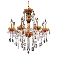 Elegant Lighting Alexandria 8 Light Dining Chandelier in Gold with Swarovski Strass Clear Crystal 7810D26G/SS