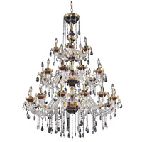 Elegant Lighting Alexandria 30 Light Foyer in Gold with Swarovski Strass Clear Crystal 7810G45G/SS