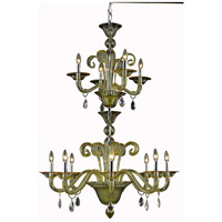 Muse 12 Light 36 inch Yellow Foyer Ceiling Light in Golden Shadow, Royal Cut