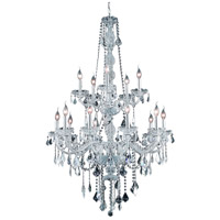 Elegant Lighting Verona 15 Light Foyer in Chrome with Swarovski Strass Clear Crystal 7815G33C/SS