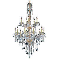 Elegant Lighting Verona 15 Light Foyer in Gold with Elegant Cut Clear Crystal 7815G33G/EC