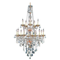 Elegant Lighting Verona 15 Light Foyer in Golden Shadow with Royal Cut Golden Shadow Crystal 7815G33GS-GS/RC