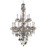 Verona 15 Light 33 inch Golden Teak Foyer Ceiling Light in Swarovski Strass