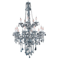 Elegant Lighting V7815G33SS-SS/RC Verona 15 Light 33 inch Silver Shade Foyer Ceiling Light in Royal Cut