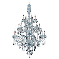 Elegant Lighting Verona 25 Light Foyer in Chrome with Swarovski Strass Clear Crystal 7825G43C/SS