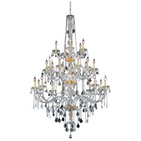 Elegant Lighting V7825G43G/EC Verona 25 Light 43 inch Gold Foyer Ceiling Light in Clear, Elegant Cut