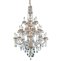 Elegant Lighting Verona 25 Light Foyer in Golden Shadow with Swarovski Strass Golden Shadow Crystal 7825G43GS-GS/SS