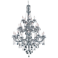 Elegant Lighting Verona 25 Light Foyer in Silver Shade with Royal Cut Silver Shade Crystal 7825G43SS-SS/RC