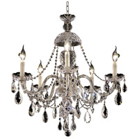 Elegant Lighting Alexandria 5 Light Dining Chandelier in Chrome with Elegant Cut Clear Crystal 7829D25C/EC