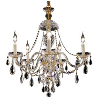 Elegant Lighting Alexandria 5 Light Dining Chandelier in Gold with Elegant Cut Clear Crystal 7829D25G/EC