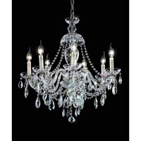 Elegant Lighting 7829D26C/EC Alexandria 7 Light 26 inch Chrome Dining Chandelier Ceiling Light in Elegant Cut alternative photo thumbnail