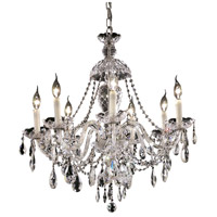Elegant Lighting Alexandria 7 Light Dining Chandelier in Chrome with Swarovski Strass Clear Crystal 7829D26C/SS