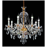 Elegant Lighting Alexandria 7 Light Dining Chandelier in Gold with Swarovski Strass Clear Crystal 7829D26G/SS alternative photo thumbnail