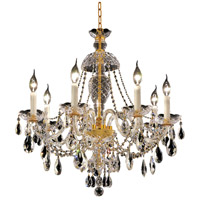 Elegant Lighting Alexandria 7 Light Dining Chandelier in Gold with Elegant Cut Clear Crystal 7829D26G/EC