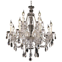 Elegant Lighting Alexandria 12 Light Dining Chandelier in Chrome with Elegant Cut Clear Crystal 7829D28C/EC