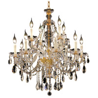 Elegant Lighting Alexandria 12 Light Dining Chandelier in Gold with Elegant Cut Clear Crystal 7829D28G/EC