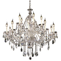 Elegant Lighting Alexandria 15 Light Foyer in Chrome with Swarovski Strass Clear Crystal 7829G35C/SS