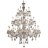 Elegant Lighting Alexandria 24 Light Foyer in Chrome with Elegant Cut Clear Crystal 7829G45C/EC