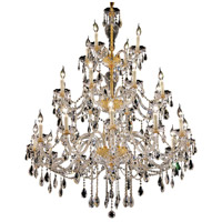 Elegant Lighting Alexandria 24 Light Foyer in Gold with Swarovski Strass Clear Crystal 7829G45G/SS