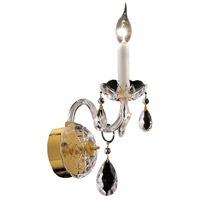 Alexandria 1 Light 4 inch Gold Wall Sconce Wall Light in Swarovski Strass