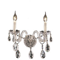 Elegant Lighting Alexandria 2 Light Wall Sconce in Chrome with Swarovski Strass Clear Crystal 7829W2C/SS
