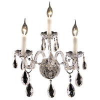 Elegant Lighting Alexandria 3 Light Wall Sconce in Chrome with Swarovski Strass Clear Crystal 7829W3C/SS