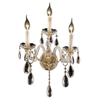 Elegant Lighting Alexandria 3 Light Wall Sconce in Gold with Swarovski Strass Clear Crystal 7829W3G/SS