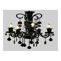 Elegant Lighting Elizabeth 5 Light Chandelier in Black with Strass Swarovski Jet (Black) Crystals 7830D25B/SS
