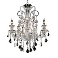 Elegant Lighting Elizabeth 5 Light Dining Chandelier in Chrome with Royal Cut Clear Crystal 7830D25C/RC alternative photo thumbnail