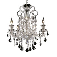 Elegant Lighting Elizabeth 5 Light Dining Chandelier in Chrome with Royal Cut Clear Crystal 7830D25C/RC
