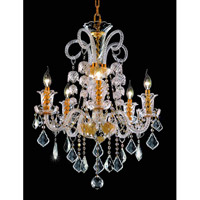 Elegant Lighting Elizabeth 5 Light Dining Chandelier in Gold with Royal Cut Clear Crystal 7830D25G/RC alternative photo thumbnail