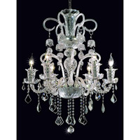 Elegant Lighting Elizabeth 6 Light Dining Chandelier in Chrome with Swarovski Strass Clear Crystal 7830D26C/SS