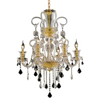 Elegant Lighting Elizabeth 6 Light Dining Chandelier in Gold with Elegant Cut Clear Crystal 7830D26G/EC alternative photo thumbnail
