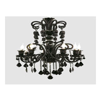 Elegant Lighting Elizabeth 8 Light Chandelier in Black with Royal Cut Jet (Black) Crystals 7830D29B/RC