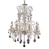 Elegant Lighting Elizabeth 8 Light Dining Chandelier in Chrome with Elegant Cut Clear Crystal 7830D29C/EC