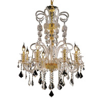 Elegant Lighting Elizabeth 8 Light Dining Chandelier in Gold with Swarovski Strass Clear Crystal 7830D29G/SS