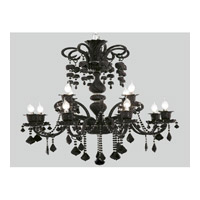 Elegant Lighting Elizabeth 12 Light Chandelier in Black with Royal Cut Jet (Black) Crystals 7830G33B/RC