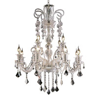 Elegant Lighting Elizabeth 12 Light Foyer in Chrome with Swarovski Strass Clear Crystal 7830G33C/SS