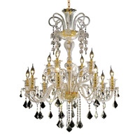 Elegant Lighting Elizabeth 12 Light Foyer in Gold with Swarovski Strass Clear Crystal 7830G33G/SS