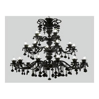 Elegant Lighting Elizabeth 24 Light Chandelier in Black with Royal Cut Jet (Black) Crystals 7830G44B/RC