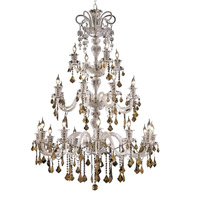 Elegant Lighting Elizabeth 24 Light Dining Chandelier in Chrome with Swarovski Strass Golden Teak Crystal 7830G44C-GT/SS