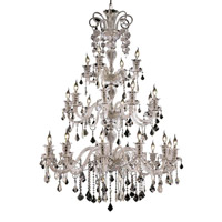 Elegant Lighting Elizabeth 24 Light Foyer in Chrome with Elegant Cut Clear Crystal 7830G44C/EC