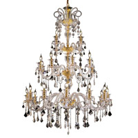 Elegant Lighting Elizabeth 24 Light Foyer in Gold with Swarovski Strass Clear Crystal 7830G44G/SS