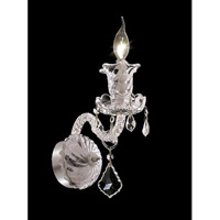 Elegant Lighting Elizabeth 1 Light Wall Sconce in Chrome with Swarovski Strass Clear Crystal 7830W1C/SS